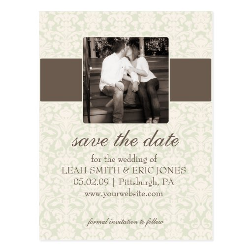 Photo Save the Date TEMPLATE Postcards