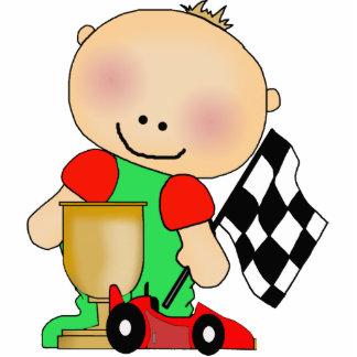 Photo Sculpture Baby Boy Race Car Driver Cut Outs