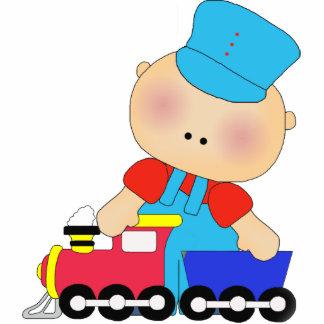 Photo Sculpture Baby Boy Train Driver