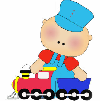 Photo Sculpture Baby Boy Train Driver Photo Cut Outs