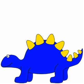 Photo Sculpture Blue Dinosaur