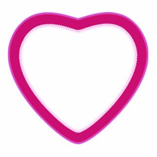 Photo Sculpture -- Keychain -- Heart for Hugs