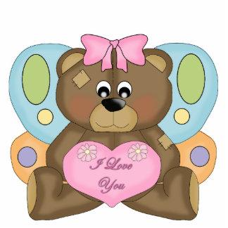 Photo Sculpture Kid's Girls Bear I Love You