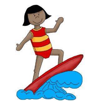 Photo Sculpture Surfer Girl