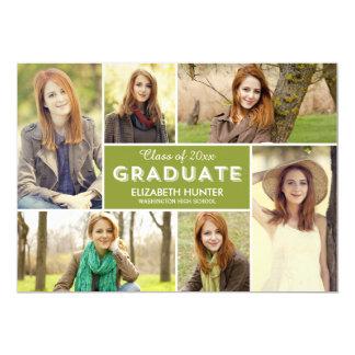 Photo Showcase EDITABLE COLOR Graduation Card 13 Cm X 18 Cm Invitation Card