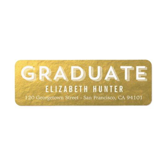 Photo Showcase GOLD Graduation Label Return Address Label