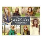 Photo Showcase Graduation Announcement Chalkboard Postcard
