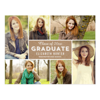 Photo Showcase Graduation Announcement Craft Postcard
