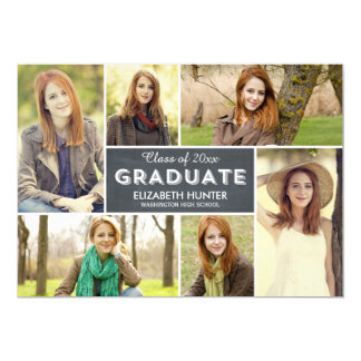 Photo Showcase Graduation Invitation - Chalk