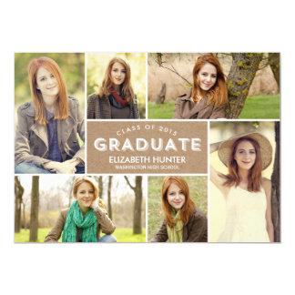 "Photo Showcase Graduation Invitation - Craft 5"" X 7"" Invitation Card"