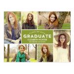 Photo Showcase Graduation Postcard Editable Colour