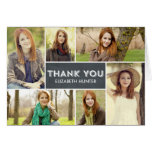 Photo Showcase Graduation Thank You Card - Chalk