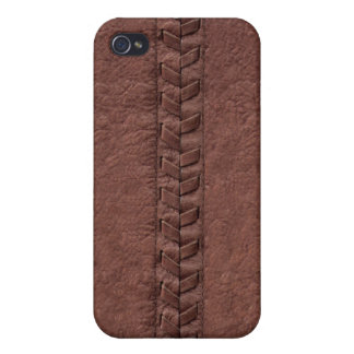 Photo Simulated Stitched Leather iPhone4 Case iPhone 4/4S Covers