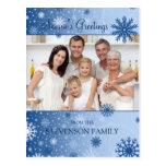 Photo Snowflakes Season's Greetings Postcards