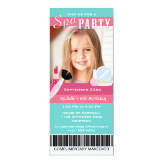 Photo Spa Party Birthday Card
