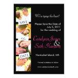 Photo Strip Save the Date! 13 Cm X 18 Cm Invitation Card