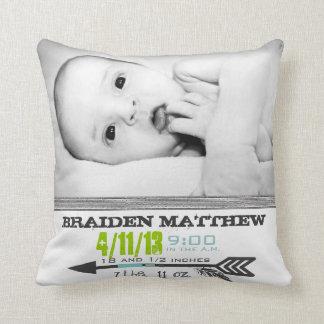 Photo Template Arrow Birth Pillow Cushions
