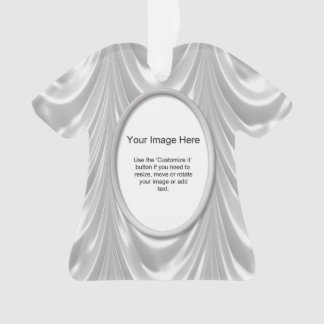 Photo Template - Bridal White Ruched Satin Fabric