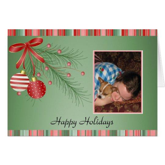 Photo Template Holidays Christmas Card