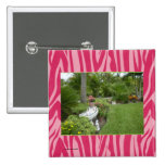 PHOTO TEMPLATE in Red and Hot Pink Zebra Print