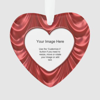 Photo Template - Luxurious Red Ruched Satin Fabric