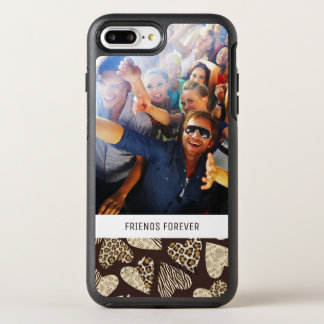 Photo & Text Animal skin with hearts OtterBox Symmetry iPhone 8 Plus/7 Plus Case