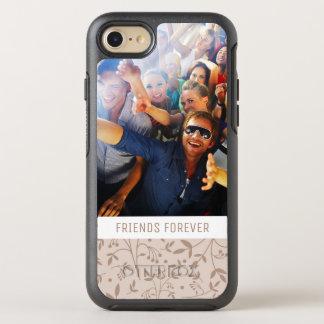 Photo & Text Beige pattern OtterBox Symmetry iPhone 8/7 Case