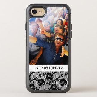 Photo & Text Black lace pattern OtterBox Symmetry iPhone 8/7 Case