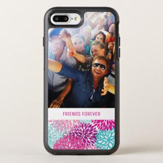 Photo & Text Bright Floral pattern 2 OtterBox Symmetry iPhone 8 Plus/7 Plus Case