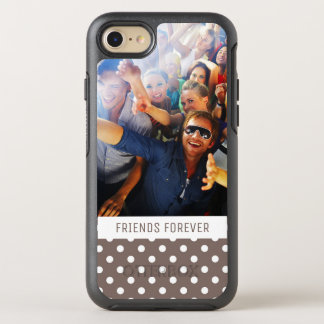 Photo & Text Brown Polka Dots OtterBox Symmetry iPhone 8/7 Case