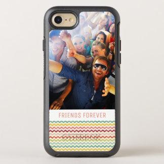 Photo & Text Chevron Pattern 4 OtterBox Symmetry iPhone 8/7 Case