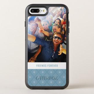 Photo & Text Fleur-de-lis pattern OtterBox Symmetry iPhone 7 Plus Case