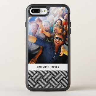 Photo & Text Geometric checked texture OtterBox Symmetry iPhone 8 Plus/7 Plus Case