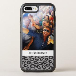 Photo & Text lace with leopard pattern OtterBox Symmetry iPhone 8 Plus/7 Plus Case