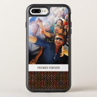 Photo & Text Leaves pattern OtterBox Symmetry iPhone 8 Plus/7 Plus Case