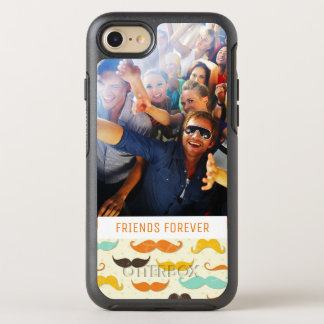 Photo & Text Mustache pattern 3 OtterBox Symmetry iPhone 8/7 Case