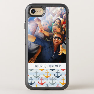 Photo & Text Nautical Pattern with Anchors OtterBox Symmetry iPhone 8/7 Case