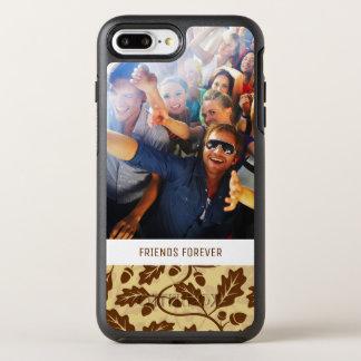 Photo & Text Oak leaf acorn background OtterBox Symmetry iPhone 8 Plus/7 Plus Case