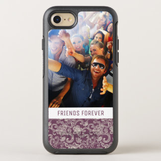 Photo & Text Retro pattern OtterBox Symmetry iPhone 8/7 Case