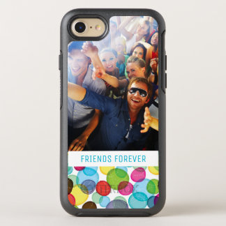 Photo & Text Round bubbles kids pattern 2 OtterBox Symmetry iPhone 8/7 Case