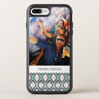 Photo & Text Turquoise Moroccan Pattern OtterBox Symmetry iPhone 8 Plus/7 Plus Case