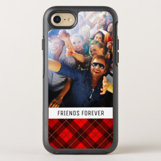 Photo & Text Wallace tartan background OtterBox Symmetry iPhone 8/7 Case