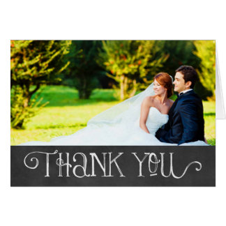 Photo Thank You Card | Chalkboard Charm