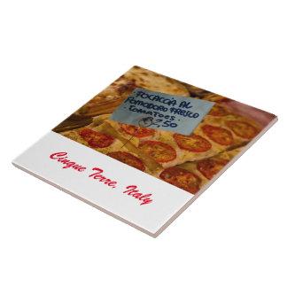 Photo Tile - Focaccia Pizza - Cinque Terre, Italy