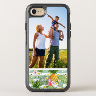 Photo Tropical Flowers & Pineapple Stripes OtterBox Symmetry iPhone 8/7 Case