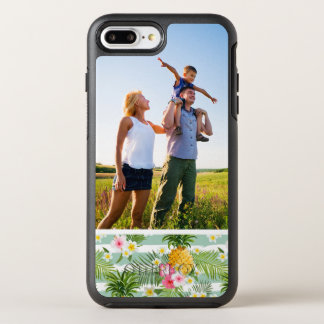 Photo Tropical Flowers & Pineapple Stripes OtterBox Symmetry iPhone 8 Plus/7 Plus Case