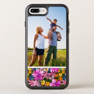 Photo Tropical leaves and flowers OtterBox Symmetry iPhone 8 Plus/7 Plus Case