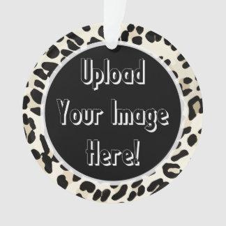 Photo Upload Leopard Print Frame Ornament