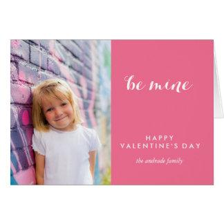 Photo Valentine Day Cute Be Mine Saint Valentine Greeting Card