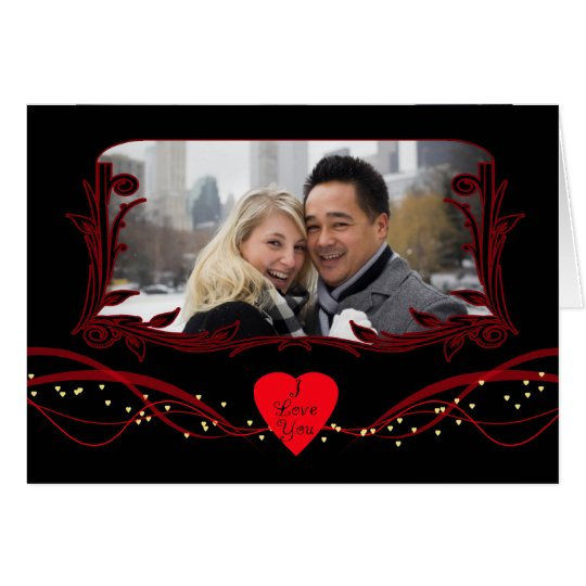 Photo Valentine's Day Card Modern With Hearts